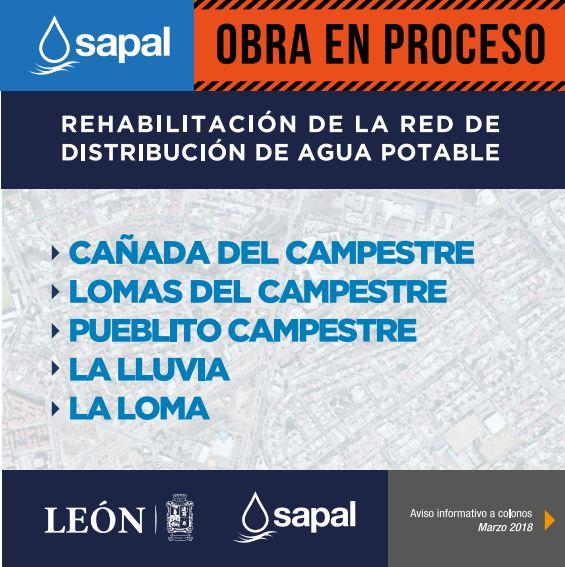 Rehabilitación de la red de distribución de Agua Potable Zona Campestre