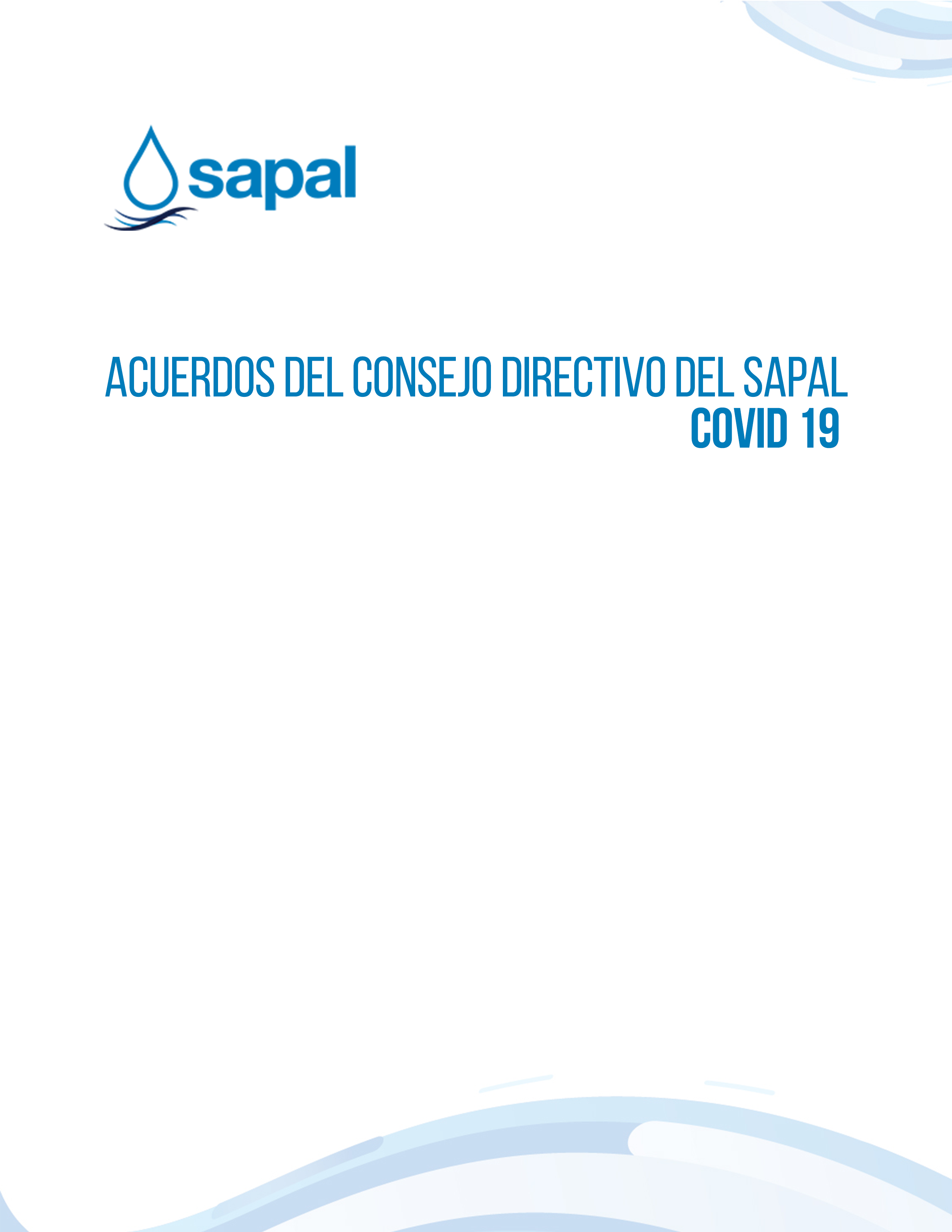 Acuerdos del Consejo Directivo del Sapal COVID-19