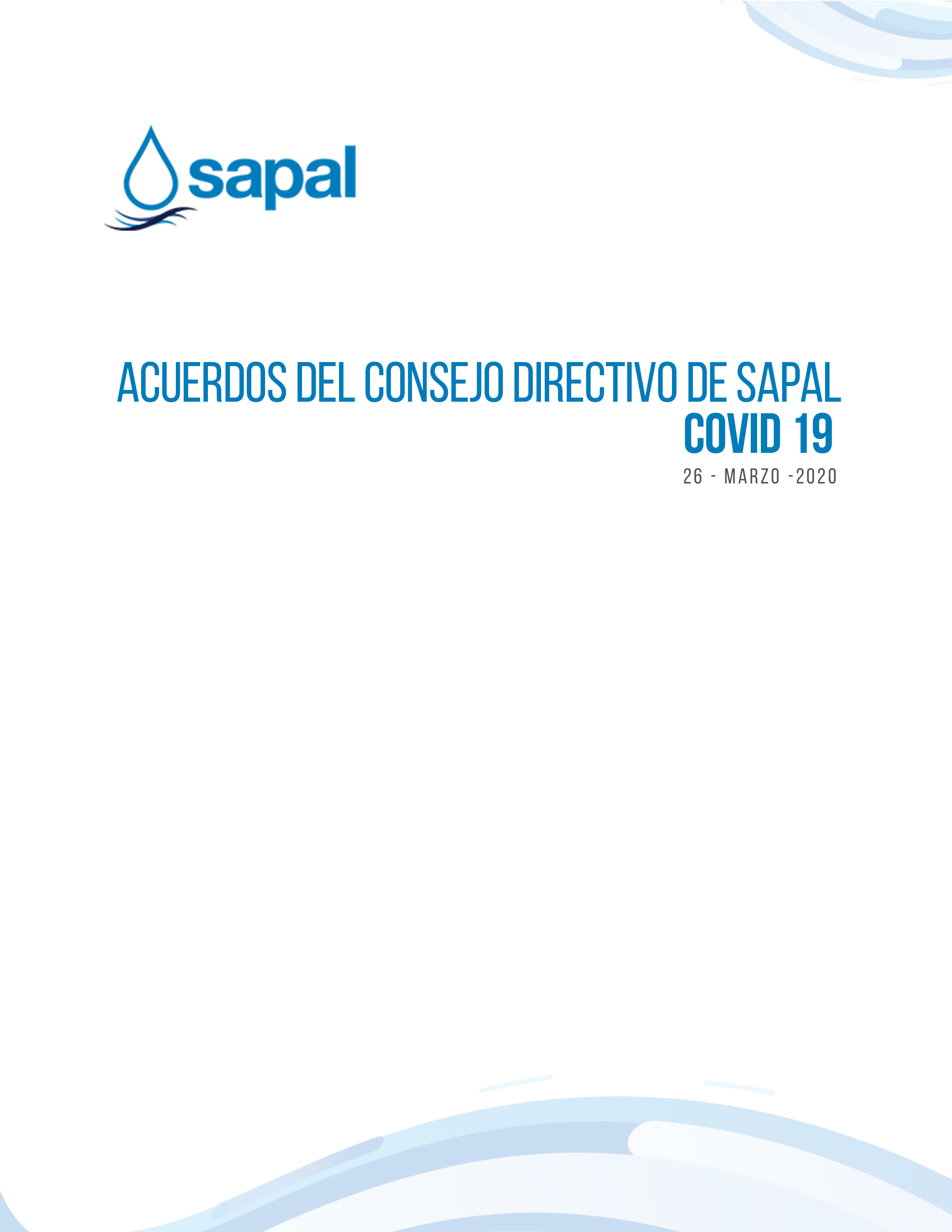 ACUERDOS DEL CONSEJO DIRECTIVO DE SAPAL COVID-19 ( 28 -ABRIL - 2020)