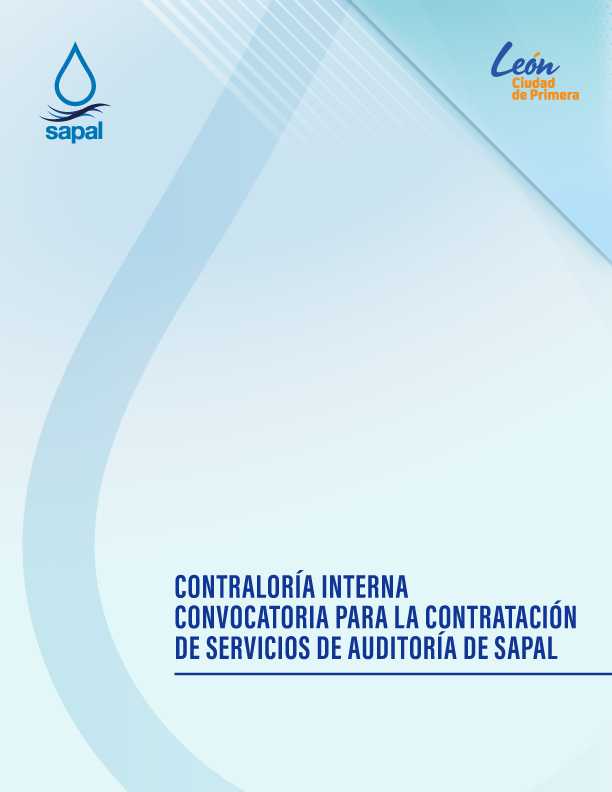 CONTRALORÍA INTERNA CONVOCATORIA PARA LA CONTRATACIÓN DE SERVICIOS DE AUDITORÍA DE SAPAL